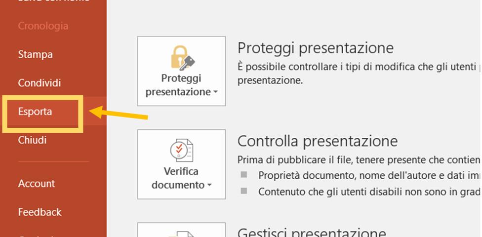 Come trasformare una presentazione PowerPoint in un video