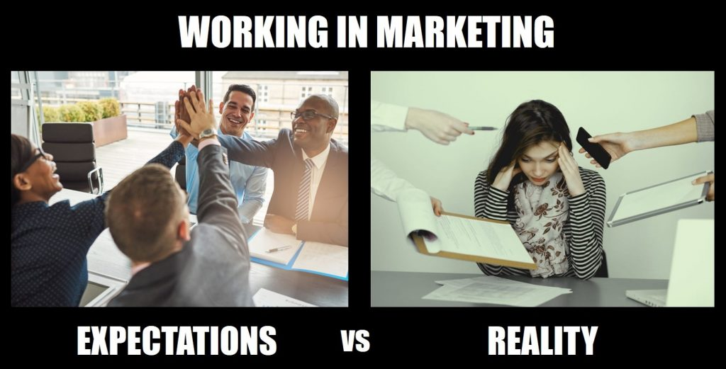 Working in Marketing: Expectations vs Reality